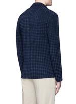 Bouclé houndstooth knit soft blazer