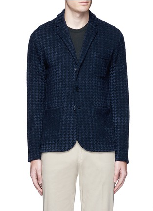 Altea - Bouclé houndstooth knit soft blazer