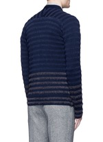Bouclé stripe wool cardigan