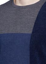 Bouclé colourblock wool sweater