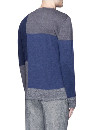 Back View - Click To Enlarge - Altea - Bouclé colourblock wool sweater