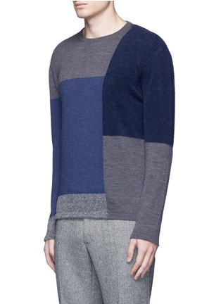 Front View - Click To Enlarge - Altea - Bouclé colourblock wool sweater