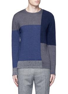 AlteaBouclé colourblock wool sweater