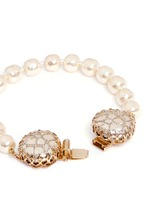 Caged Baroque glass pearl bracelet