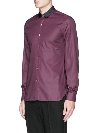 Front View - Click To Enlarge - Lanvin - Grosgrain collar cotton poplin shirt