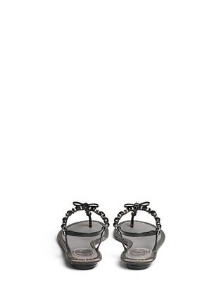 背面 - 点击放大 - RENÉ CAOVILLA - 人造珍珠水晶蝴蝶结平底凉鞋