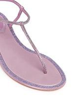 'Cupido' strass border satin T-strap sandals