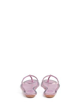 背面 - 点击放大 - RENÉ CAOVILLA - 缎面仿水晶装饰夹脚平底凉鞋