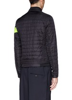 'Roi' neon stripe quilted jacket