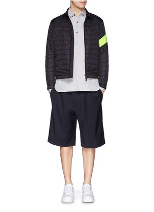 Figure View - Click To Enlarge - Moncler - 'Roi' neon stripe quilted jacket