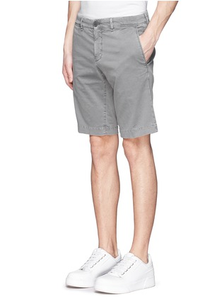 Front View - Click To Enlarge - Moncler - 'Pantalone' garment dye cotton shorts