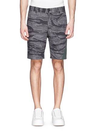 Main View - Click To Enlarge - Moncler - Side band camouflage shorts