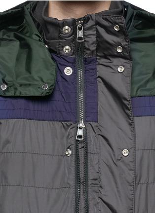 细节 - 点击放大 - MONCLER - 撞色拼贴缝线设计外套