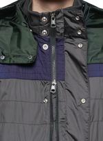 撞色拼贴缝线设计外套