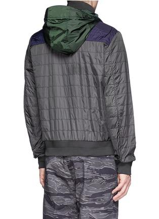 背面 - 点击放大 - MONCLER - 撞色拼贴缝线设计外套