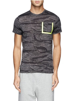 Main View - Click To Enlarge - Moncler - Neon trim camouflage T-shirt