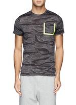 Neon trim camouflage T-shirt