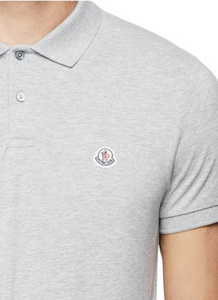 Detail View - Click To Enlarge - Moncler - Logo embroidery cotton polo shirt