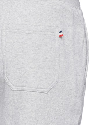 Detail View - Click To Enlarge - Moncler - Drawstring cotton French terry sweatpants