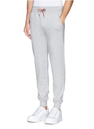 Front View - Click To Enlarge - Moncler - Drawstring cotton French terry sweatpants