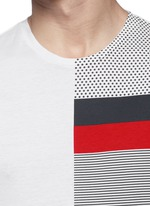 'Maglia' mix pattern panel cotton T-shirt