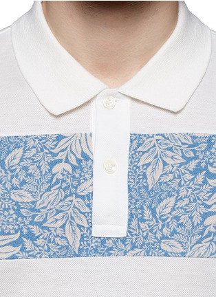 Detail View - Click To Enlarge - Moncler - 'Maglia' floral stripe polo shirt