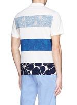 'Maglia' floral stripe polo shirt