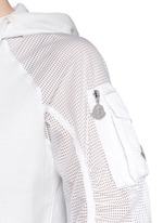 'Maglia' perforated sleeve cotton jacket