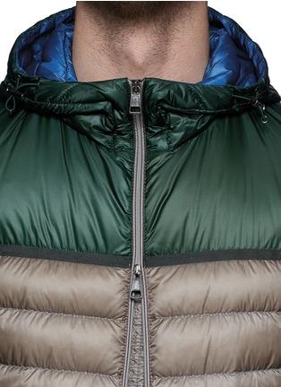 细节 - 点击放大 - MONCLER - ARSENAL拼色羽绒夹克