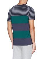 Contrast stripe cotton T-shirt