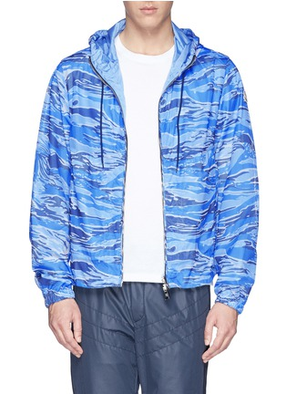 Main View - Click To Enlarge - Moncler - 'Gobert' camouflage mesh reversible jacket