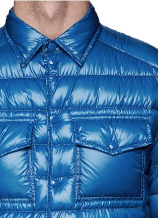 Detail View - Click To Enlarge - Moncler - 'Gregoire' light down shirt jacket