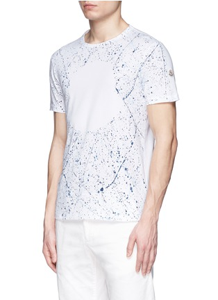 Front View - Click To Enlarge - Moncler - 'Maglia' paint splatter cotton T-shirt