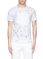 'Maglia' paint splatter cotton T-shirt
