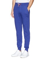 Drawstring cotton French terry sweatpants