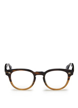 Main View - Click To Enlarge - Oliver Peoples - 'Sheldrake RX' ombré acetate optical glasses