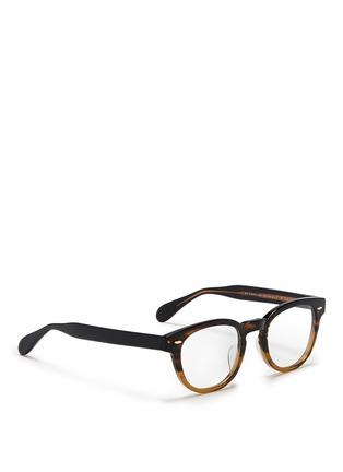 Figure View - Click To Enlarge - Oliver Peoples - 'Sheldrake RX' ombré acetate optical glasses