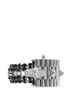 IOSSELLIANICrystal pavé panther head chain bracelet