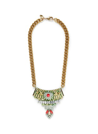 Main View - Click To Enlarge - IOSSELLIANI - Star crystal metal plastron necklace