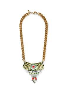 IOSSELLIANIStar crystal metal plastron necklace