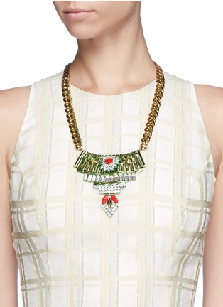 Figure View - Click To Enlarge - IOSSELLIANI - Star crystal metal plastron necklace