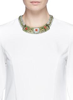 IOSSELLIANIStar crystal metal plastron collar necklace