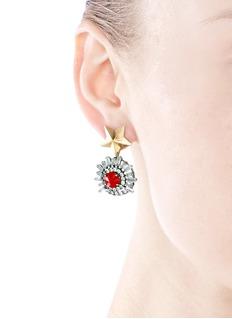 IOSSELLIANIStarburst stud crystal earrings