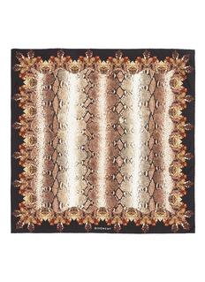 GIVENCHYPython print silk satin scarf