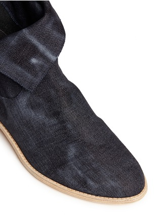 Detail View - Click To Enlarge - Stuart Weitzman - 'Noslouch' denim ankle boots