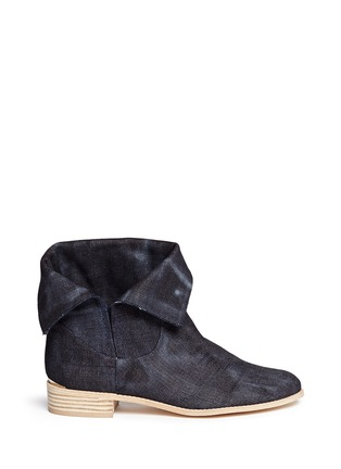 Main View - Click To Enlarge - Stuart Weitzman - 'Noslouch' denim ankle boots