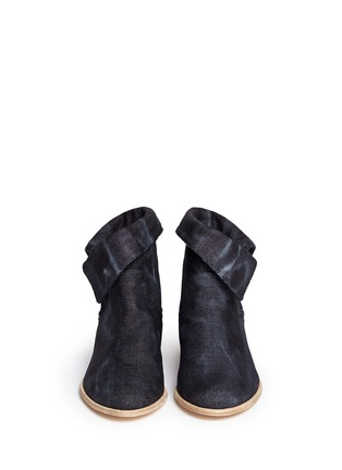 Figure View - Click To Enlarge - Stuart Weitzman - 'Noslouch' denim ankle boots