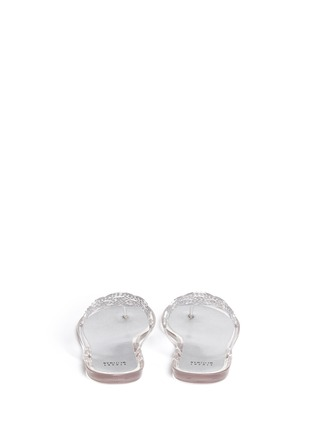Back View - Click To Enlarge - Stuart Weitzman - 'Mermaid' crystal jelly flip flops