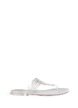 Main View - Click To Enlarge - Stuart Weitzman - 'Mermaid' crystal jelly flip flops