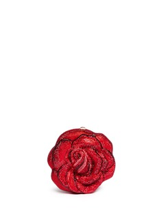 JUDITH LEIBER 'American Beauty New Rose' crystal pavé minaudière
